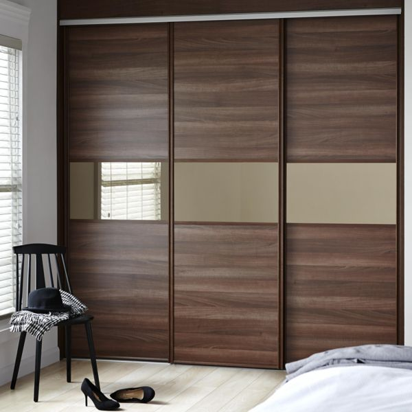 Sliding wardrobe doors kits bedroom furniture diy at b q for Sliding cupboard doors