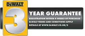 DeWalt 3 year Guarantee