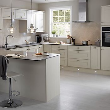 IT Brookfield Textured Mussel Style Shaker fitted kitchen