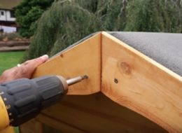 Secure the roof fascia
