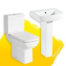 Cooke & Lewis Fabienne Full Pedestal Basin & Toilet