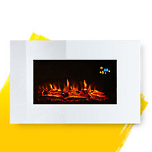 Osmington Mirrored Glass Facia Remote Control Wall Hung Electric Fire
