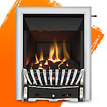 Elegance Chrome/Black Slide Control Inset Gas Fire