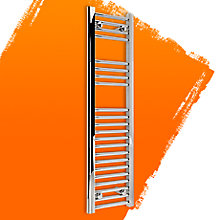Kudox ELECTRIC Silver Towel Rail (H)1100mm (W)300mm