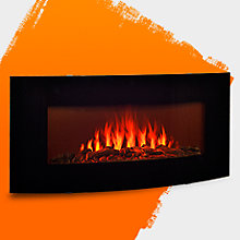 BLYSS FULTON BLACK LED REMOTE CONTROL WALL HUNG ELECTRIC FIRE