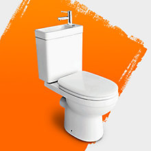 Duetto Close coupled toilet with integrated basin