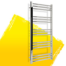 Kudox Timeless Silver Towel Rail (H)1100mm (W)500mm