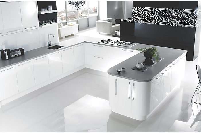 Cooke lewis high gloss white kitchen ranges kitchen rooms diy at b q B q diy kitchen design