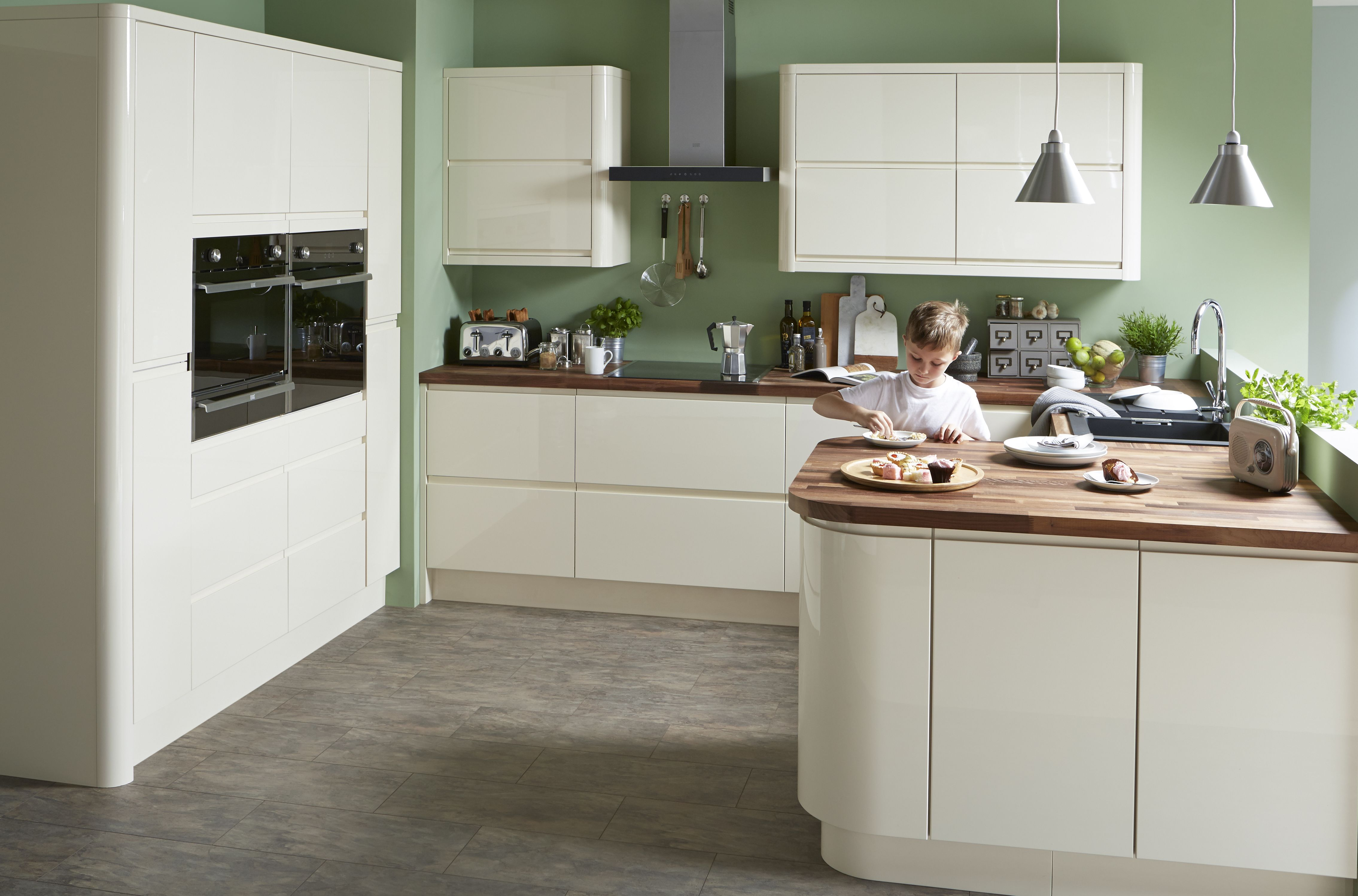 Cream High Gloss Vinyl Kitchen Cabinet Doors: Cooke & Lewis Appleby High Gloss Cream With Integrated