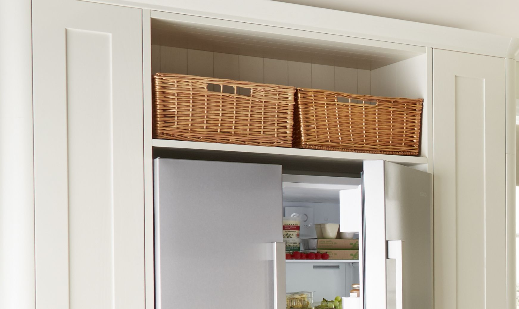 wicker basket kitchen storage