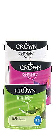 Crown Neutrals Snow Drop Matt Emulsion Paint 2.5L