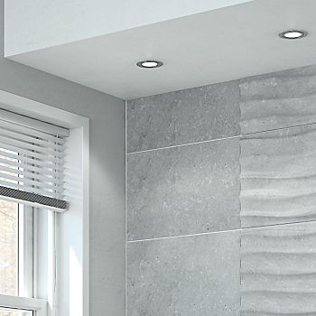 LED ceiling spotlights in bathroom