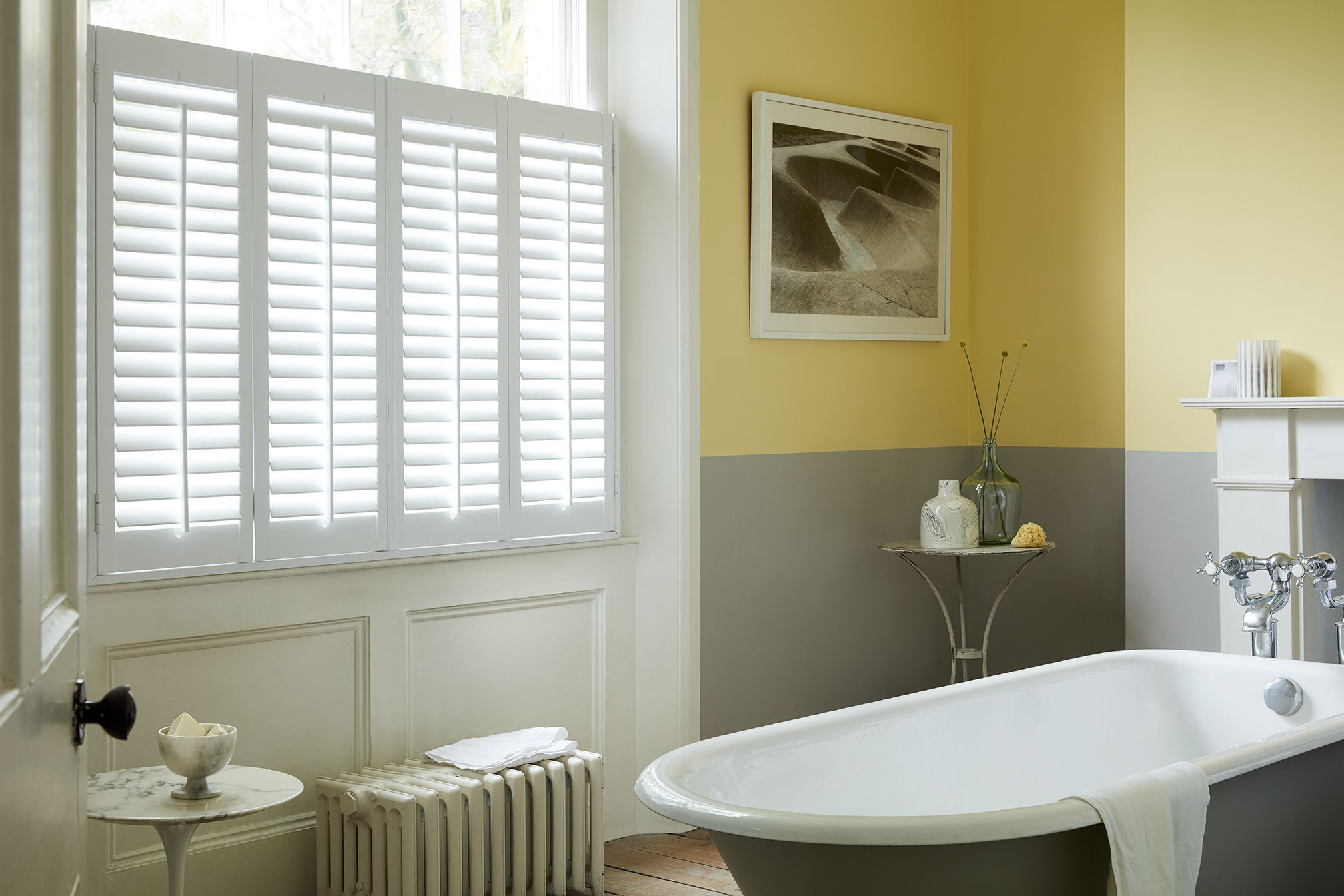 made from high grade polyvinyl these window shutters are 100 waterproof and highly durable they are ideal for rooms with a high level of humidity such as
