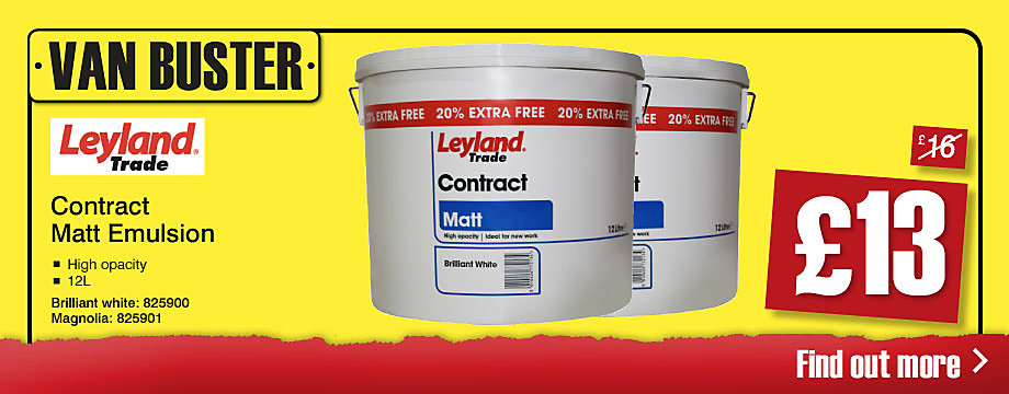 Van Buster Leyland Contract Matt Emulsion 12L