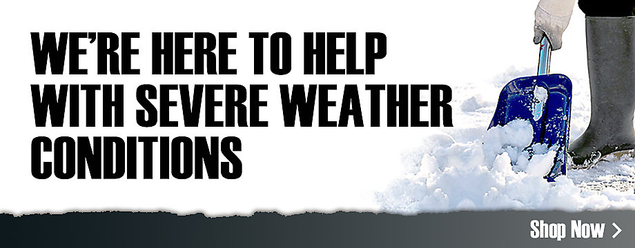 We're here to help with severe weather conditions