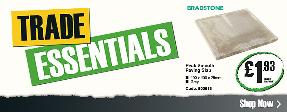 Trade essentials: Peak paving slab £1.93 ex-VAT