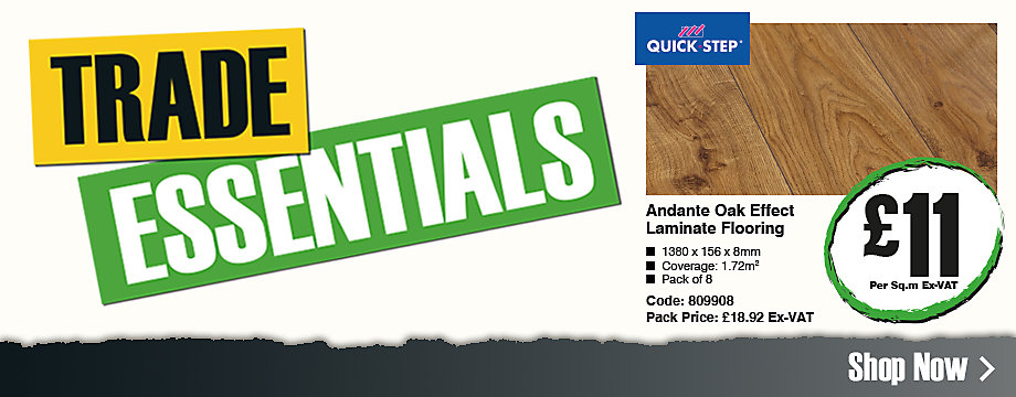 Trade essential: Oak effect laminate flooring £11 per square metre ex-VAT