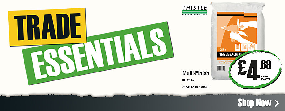 Trade essential: Thistle Multi-Finish Plaster £4.68 ex VAT