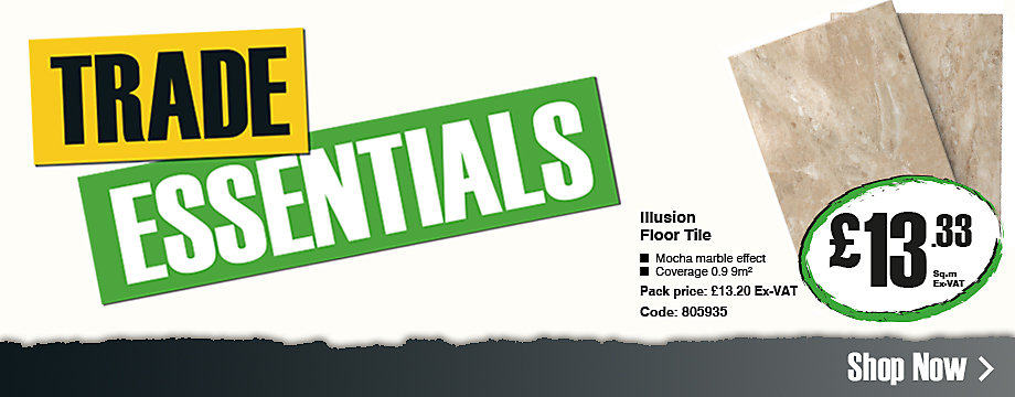Trade essentials: Illusion Floor Tile £13.33 ex VAT per square metre