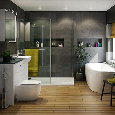 Bathroom Suites Complete Bathroom Suites Diy At B Amp Q