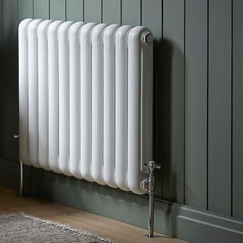 white steel radiator
