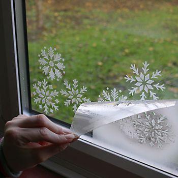 Snowflake window decals