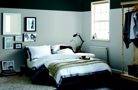 Image of bedroom painted grey