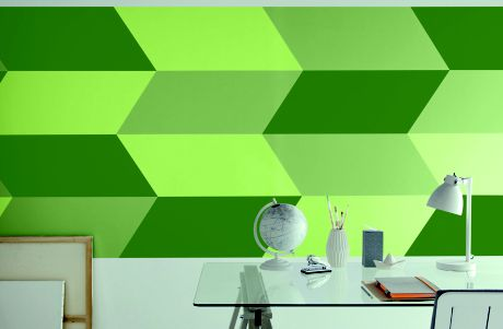 Image of an office painted green