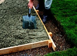step 4 of laying a concrete shed base