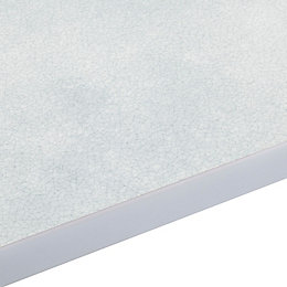 28mm Cracked Glass Grey Gloss Square Edge Worktop