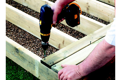 How to build a basic decking area