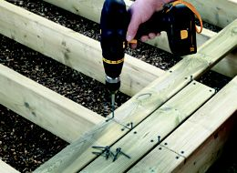How to build a basic ground level deck ideas advice for Basic deck building instructions