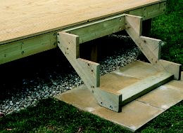 How to add steps railing to decking ideas advice for B and q timber decking