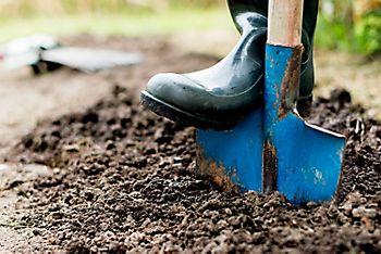 Finish off winter digging
