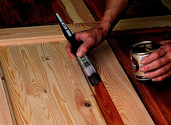 How to paint varnish stain a door ideas advice for How to paint wood windows interior