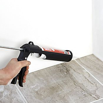 Using sealant around tiles