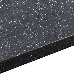 34mm Black Star Round Edge Worktop with Sink