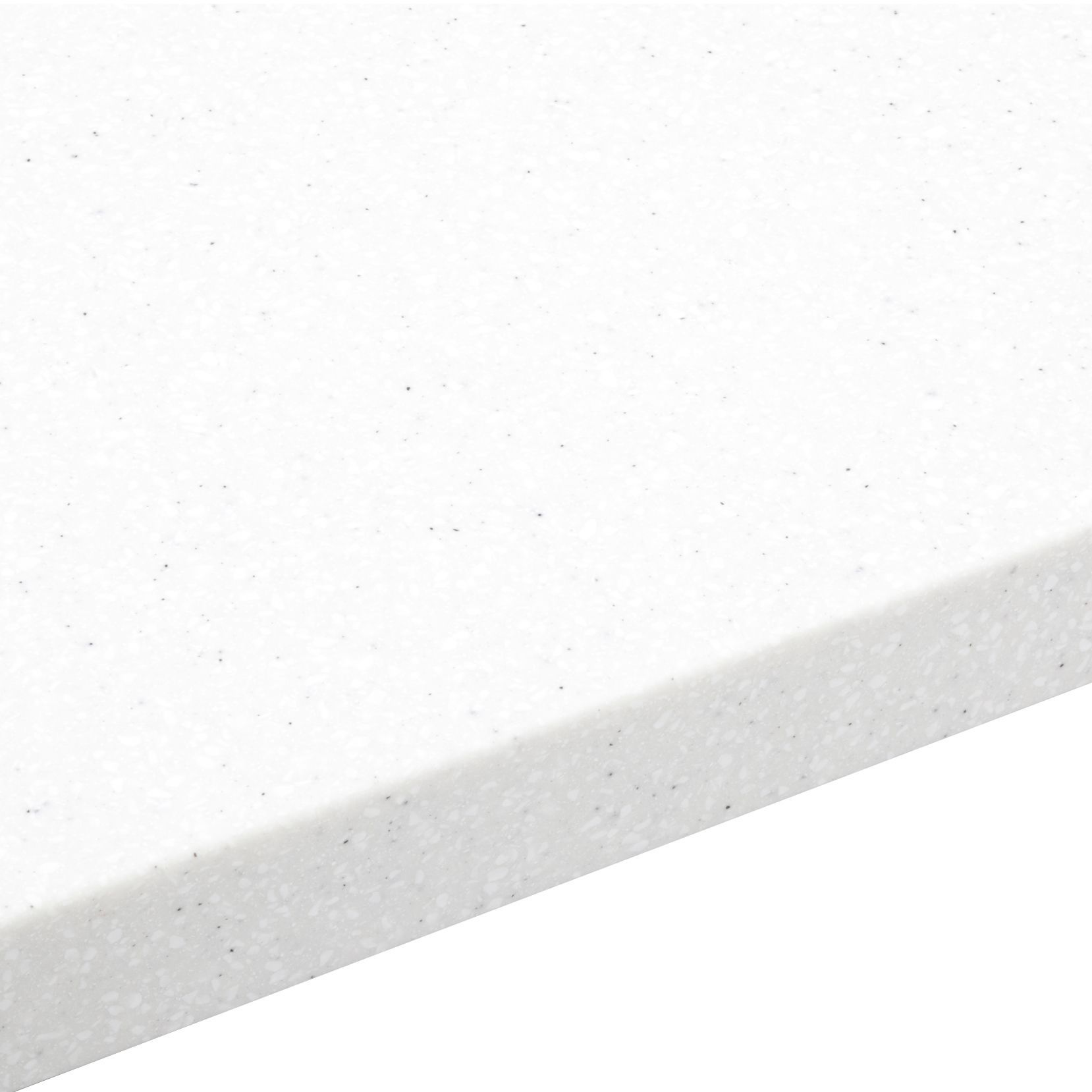 34mm Nordic White Round Edge Worktop (l)3000mm (d)605mm