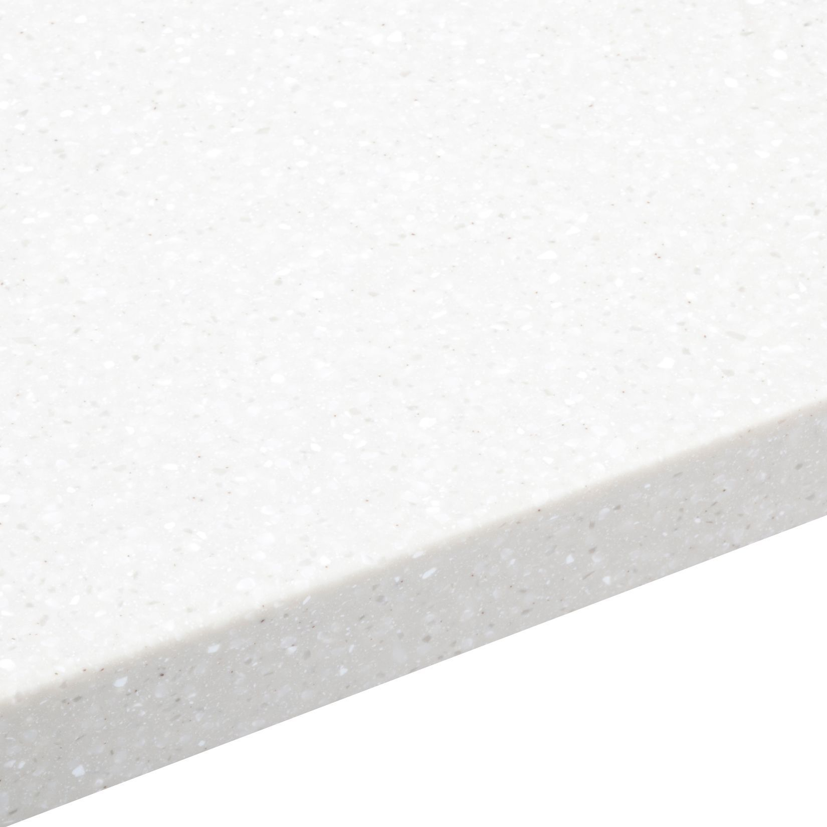 34mm Nordic White Round Edge Worktop (l)1800mm (d)605mm