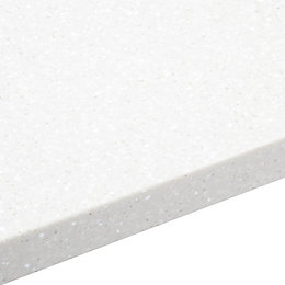 34mm Nordic White Round Edge Breakfront Worktop (L)3000mm