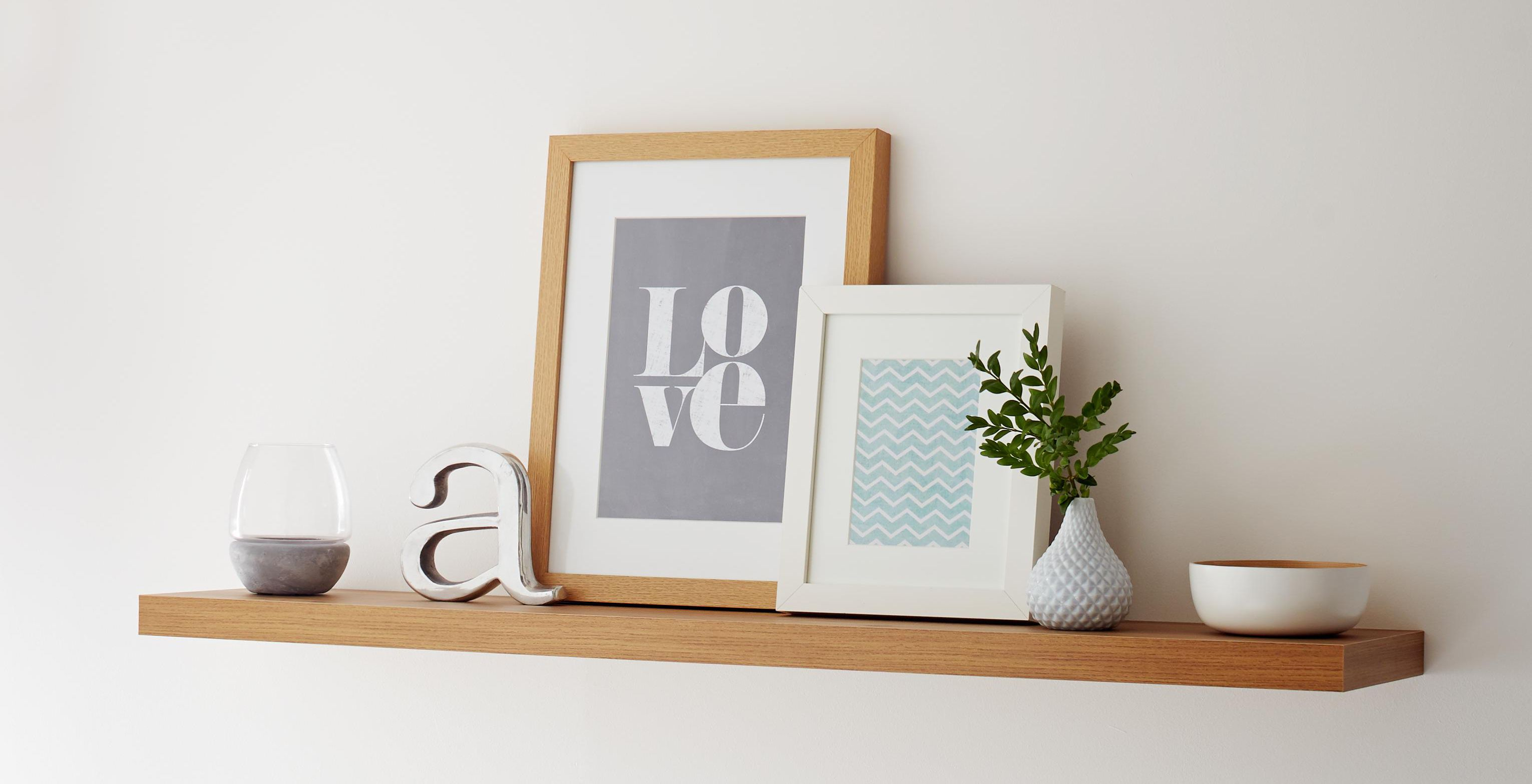 how to hang pictures close to the wall