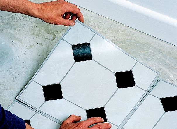How To Lay Vinyl Floor Tiles Help Amp Ideas Diy At B Amp Q