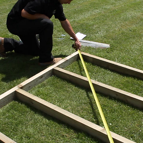 image for how to build a shed base