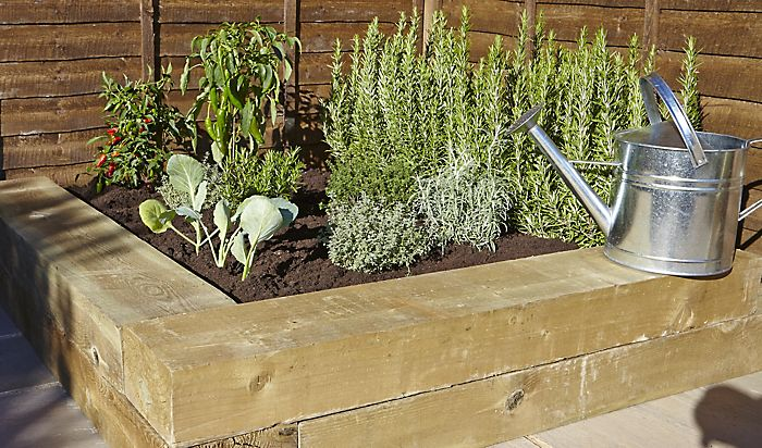 """""""herb garden with sleepers"""""""