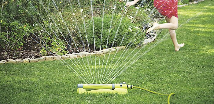 """Lawn with sprinkler"""