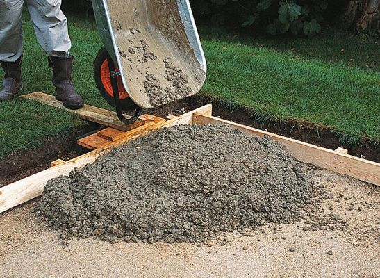 How to build a shed on a concrete base fidela f for Pouring your own concrete driveway