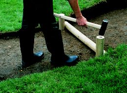 how to build concrete steps on a slope