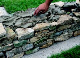 How to build a stone garden wall Help Ideas DIY at BQ