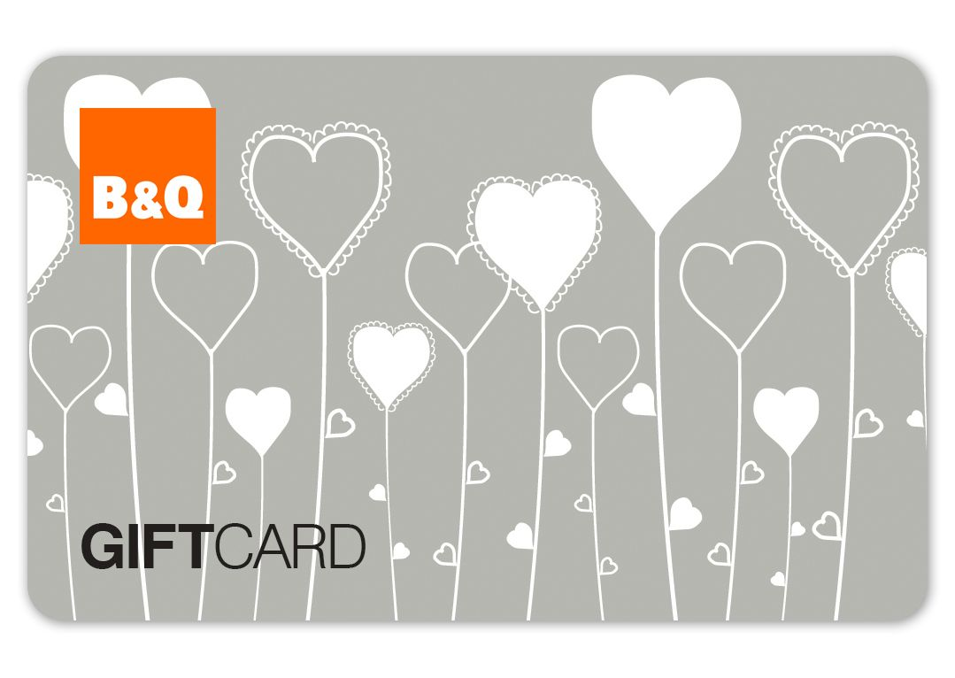 Gift cards DIY at B&Q