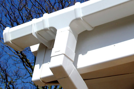 picture of square guttering